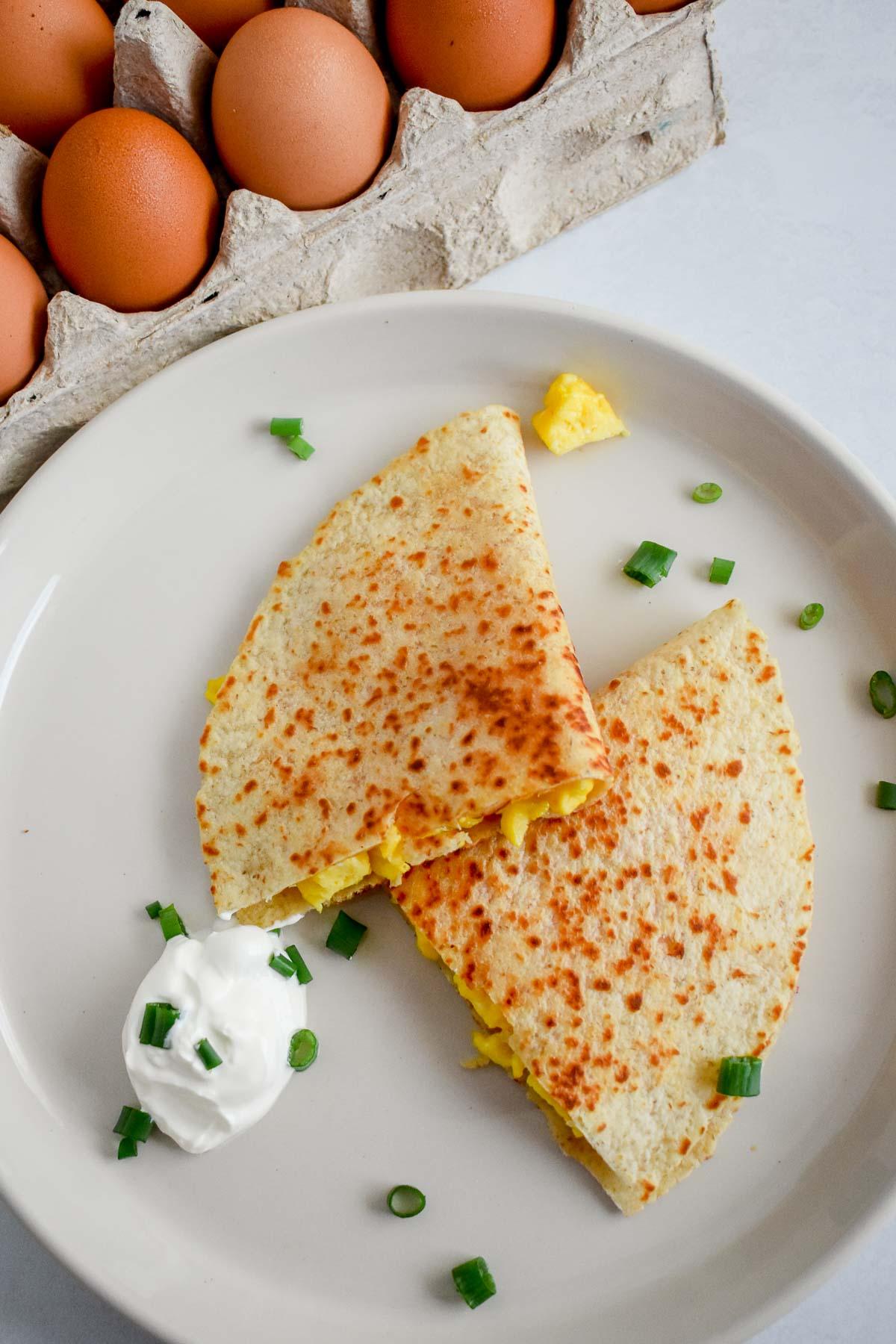 Receta de Wraps de Queso & Huevo
